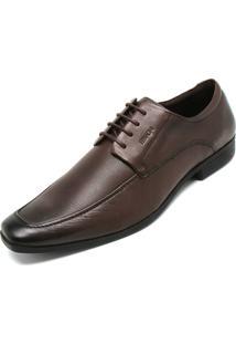 Sapato Social Couro Ferracini Cadarço Marrom