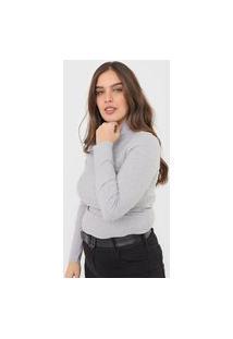 Blusa Calvin Klein Jeans Canelada Cinza