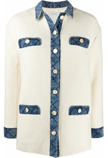 Sandro Paris Jaqueta De Tweed - Branco