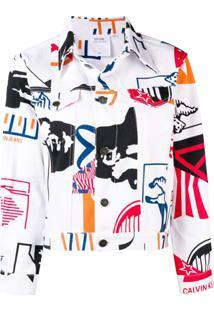 Calvin Klein Jeans Est. 1978 Jaqueta 'Modernist' - Branco