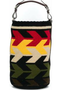 Colville Oversized Knitted Bucket Bag - Preto