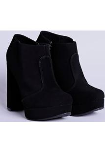 Sapato De Salto Feminino Bebecê Preto