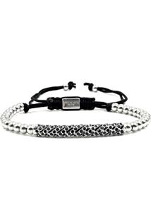 Pulseira Macrame Silver Diamond Luxury