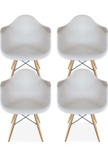 Kit 04 Cadeiras Decorativas Lyam Decor Melbourne Branco.