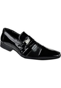 Sapato Social Verniz Savona Masculino - Masculino-Preto