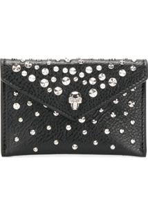 Alexander Mcqueen Carteira 'Skull Envelope Card Holder' - Preto