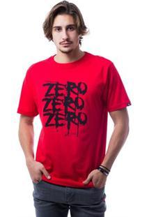 Camiseta Zero Triple Z Masculina - Masculino-Vermelho