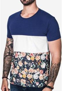 Camiseta Hermoso Compadre Recortes Masculina - Masculino-Azul