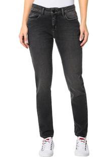 Calça Calvin Klein Jeans 5 Pockets Slouchy Skinny Preto - 34