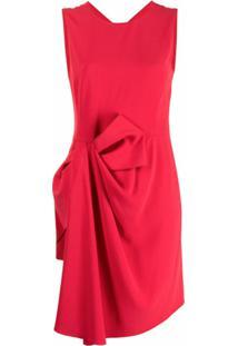 Emporio Armani Vestido Com Detalhe Drapeado - Vermelho