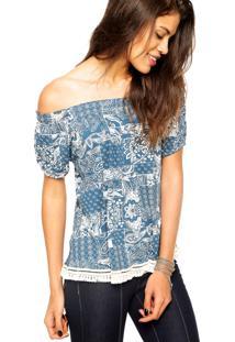 Blusa Ciganinha Fiveblu Mix Azul