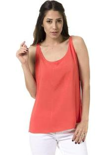 Blusa Bloom Regata Lisa Decote U - Feminino