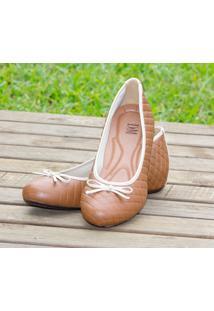 Sapato Dm Extra Matelassê Marrom Linhaça 361730 Numeração Especial Tamanhos Grandes 41 42 43