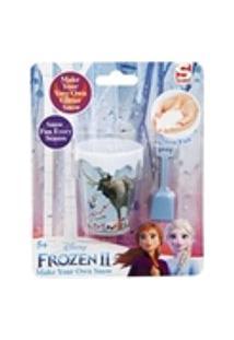 Kit Brinquedo Faça Neve Mágica Com Glitter Frozen 2 Disney Toyng