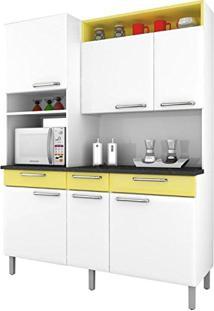 Armário Para Cozinha Regina Itatiaia I3Vg3-155 Branco/Amarelo Claro