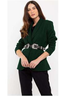 Blazer Elora Casual Feminino Verde
