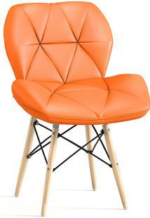 Cadeira Decorativa Slim Eiffel Laranja