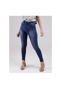 Calça Jeans Cintura Alta Feminina Azul