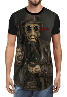 Camiseta Hunter Longline Contamination Preta