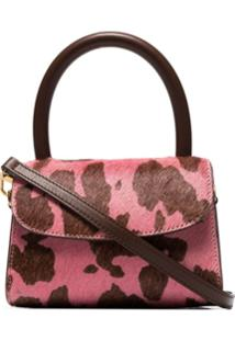 By Far Bolsa Transversal Com Estampa De Vaca Mini - Rosa