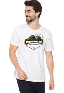 Camiseta Masculina Eco Canyon Mountains Branca