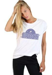 Camiseta Joss Vilões Feminina - Feminino-Branco