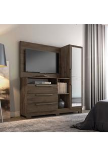 Cômoda Para Tv 42 Pol Notável Nt5055-147 Com Espelho 1 Porta Café
