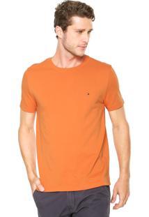 Camiseta Tommy Hilfiger Regular Fit May Laranja