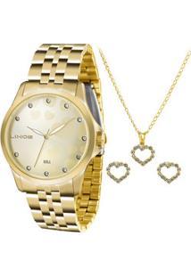 Kit Relógio Feminino Lince Lrgj064L Kt31C1Kx