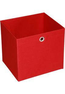 Caixa Organizadora Retangular Grande Vermelho 30X32X28 Cm Acasa Móveis