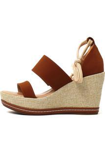 Sandália Damannu Shoes Chloe Nobuck Caramelo