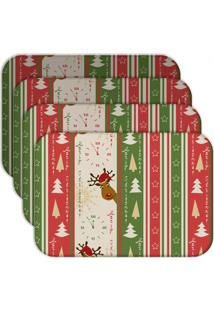 Jogo Americano - Love Decor Merry Christmas Kit Com 6 Peças