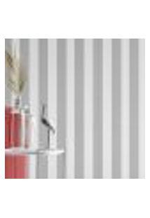 Papel De Parede Adesivo Autocolante Listras Cinza E Branco Vertical