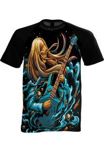 Camiseta Manga Curta Stompy Psicodelica 13 Preto