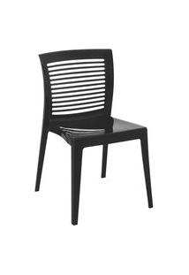 Cadeira Victória Preta Encosto Aberto 92041009 Tramontina