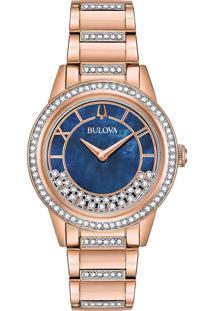 Relógio Bulova Feminino Aço Rosé - 98L247