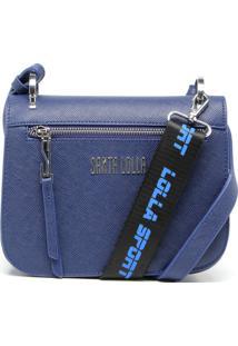 Bolsa Tiracolo Santa Lolla Tag Azul