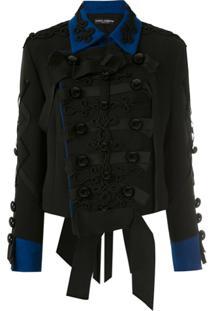 Dolce & Gabbana Blazer Com Abotoamento Duplo - Preto