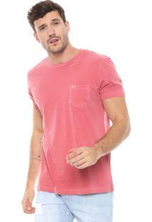 Camiseta Richards Bolso Vermelha