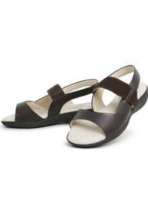 Sandalia Top Franca Shoes Feminina Conforto Cafe