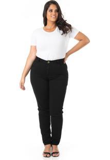 Calça Jeans Cigarrete Tradicional Plus Size - Confidencial Extra - Kanui