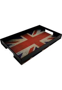 Bandeja Para Café Da Manhã Reino Unido- Preta & Vermelhacia Laser