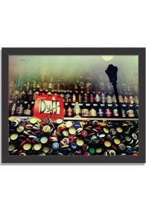 Quadro Decorativo The Legendary Duff Beer Preto - Grande
