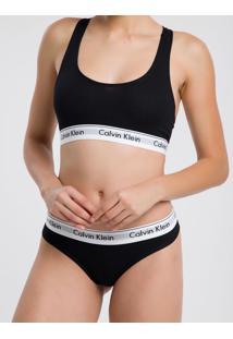Top Nadador Básico Preto Underwear Calvin Klein - L