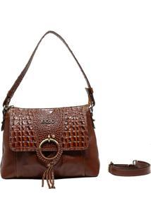 Bolsa De Couro Recuo Fashion Bag Baú Caramelo