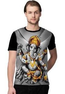 Camiseta Stompy Psicodelica22 Masculina - Masculino-Preto