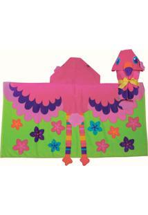 Toalha De Banho Stephen Joseph Flamingo Rosa.