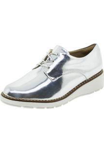 Sapato Feminino Oxford Prata Piccadilly - 731016