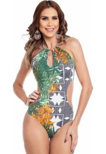 Maiô Maré Brasil Engana Mamãe - Feminino-Verde