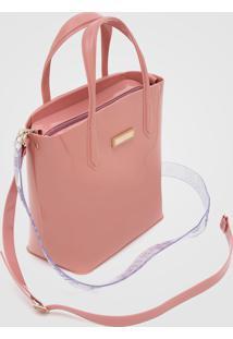 Bolsa Petite Jolie Alça Transparente Rosa